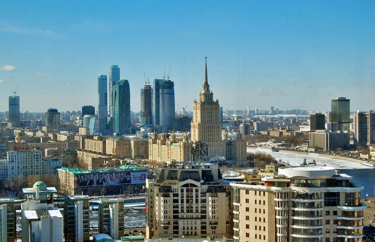 Header moscow city skyline